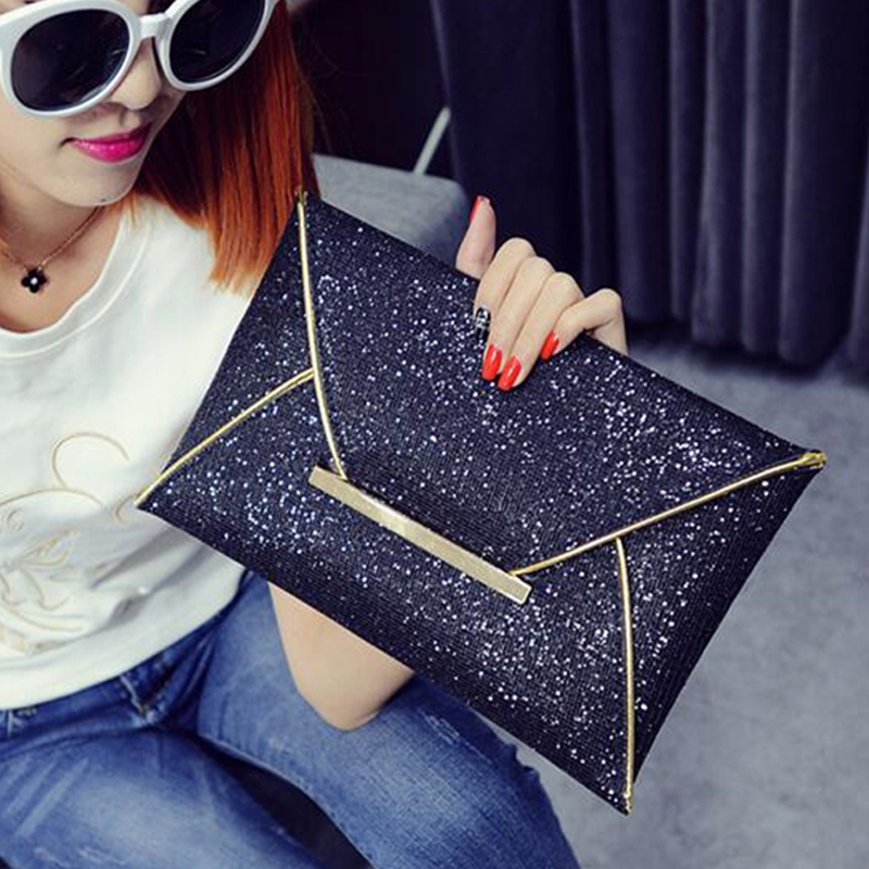 Envelope Clutch Ladies Sparkling Dazzling Bag Purse Women Evening Party Handbag Day Clutches Shining Tote Large Capacity Wallet