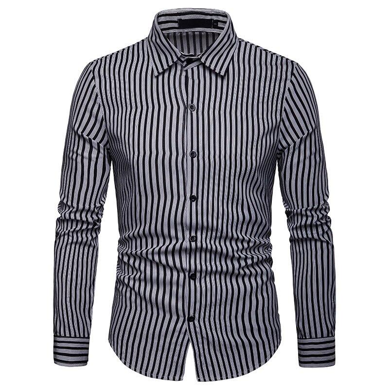 Black Camisa Masculina Mens Dress Shirts Long Sleeve Men Shirt Brand Clothing Slim Fit Business Casual Shirt Male Chemise Homme