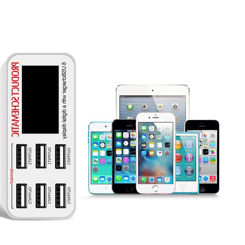 Φορτιστής USB INGMAYA 6 ακροδεκτών LCD - Ανταλλακτικά και αξεσουάρ κινητών τηλεφώνων - Φωτογραφία 3