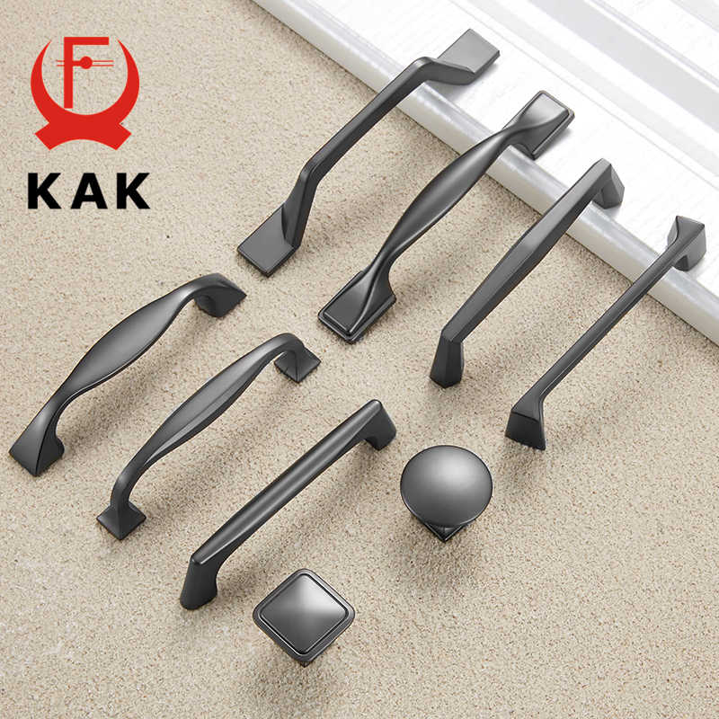 KAK Zinc Alloy Pearl Gray Cabinet Handles Drawer Knobs Kitchen Cupboard Door Pulls Fashion Furniture Handle Cabinet Hardware