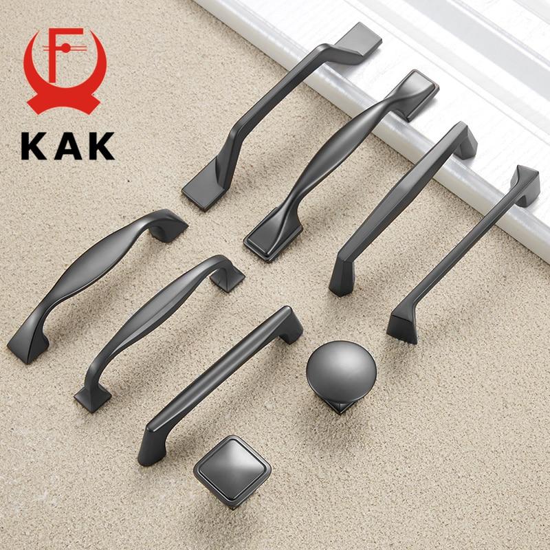 Gray Kitchen Hardware: KAK Zinc Alloy Pearl Gray Cabinet Handles Drawer Knobs