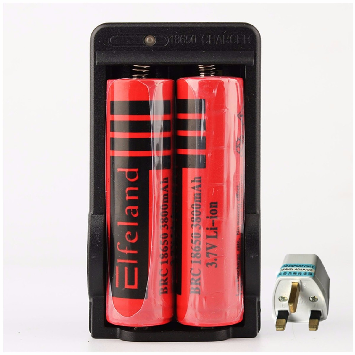 2pcs 3800mAh 18650 Li-ion Rechargeable Battery + Dual Charger Lithium Ion Battery 4.2V Intelligent Charge High Powerful