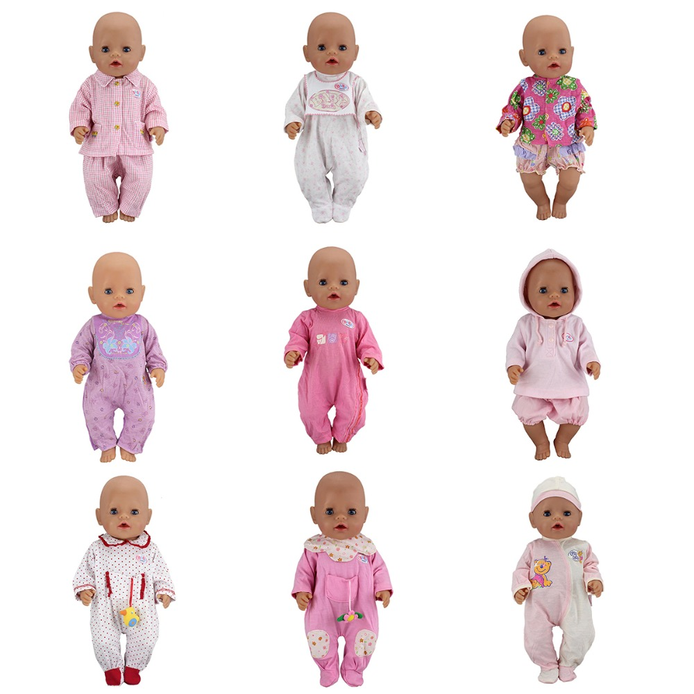 Original Doll Suits For 43cm Zapf Baby Born Doll Reborn Baby Clothes 17inch Doll Accesso ...
