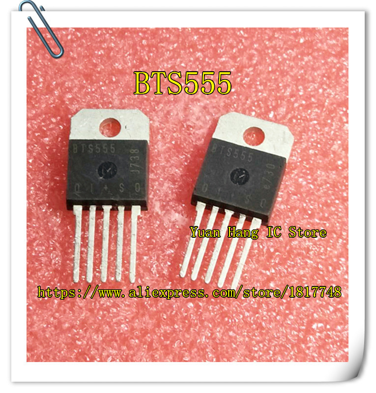 10PCS/LOT BTS555 555 TO-218-5 Intelligent Impedance, High Current Power, High Side Switching Transistor