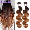 Ombre Brazilian Hair Body Wave 3pcs Brazilian Virgin Hair BrazilianBody Wave Ombre Hair Extensions Ombre Human Hair Extension