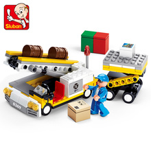 222pcs New Assembling Building Block Aviation World Luggage Delivery Airport Series Alpinia Plastic Building Blocks Toys 0369