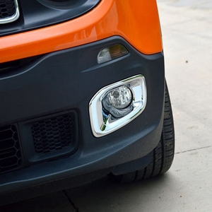 Carro accessprries para jeep renegado 2014 2015 2016 abs chrome frente luz de nevoeiro quadro da lâmpada moldura capa guarnição etiqueta protetora 2 pçs