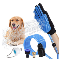 Silicone Pet Dog brush Glove lice Remover Bath Comb Glove Gentle Deshedding Efficient Pet Dog Cat Grooming Glove with Water Pipe