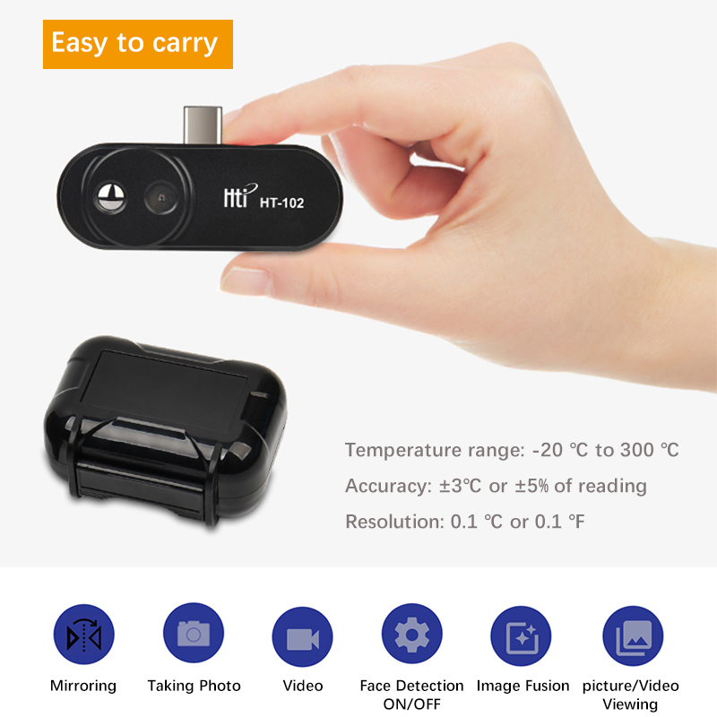 Nueva cámara de imagen térmica infrarroja de visión nocturna FLIR ONE PRO Gen 3 Uso para iphone ipad iOS o Android o tipo C Dropship - 5