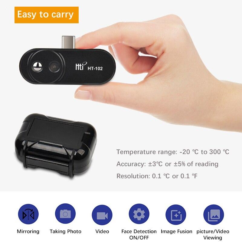 Новая тепловизионная камера инфракрасная imager ночное видение FLIR ONE PRO Gen 3 использование для iphone ipad iOS или Android или тип c Прямая поставка - 5