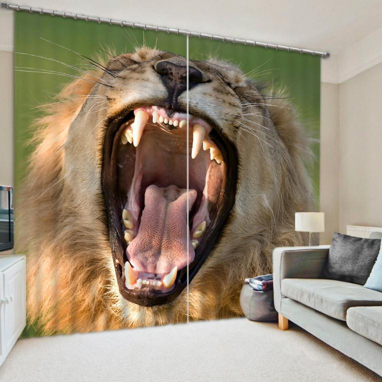 High Quality Animal Curtains Bedding Living Room 3D Leopard Print Cortians Sunshade Window Custom