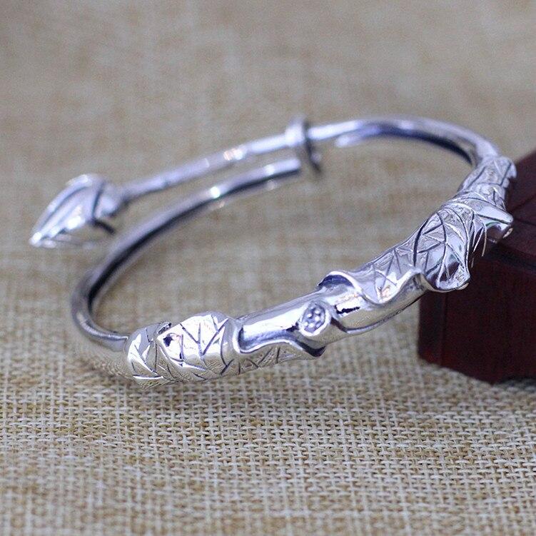 Одноцветное Серебро 925 Толстая браслет цепочка Для мужчин простой Дизайн 100% реального стерлингового серебра 925 Винтаж Прохладный Для мужчи... - 2