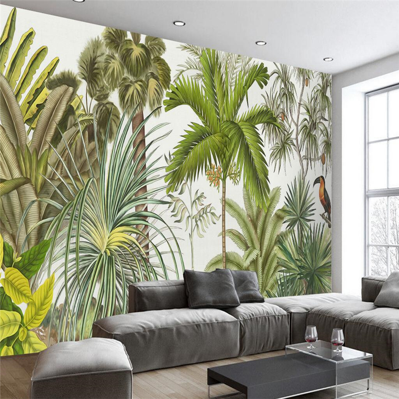 Wall Decor Ideas For Large Walls: Beibehang Rainforest Banana Custom Wall Paper Background