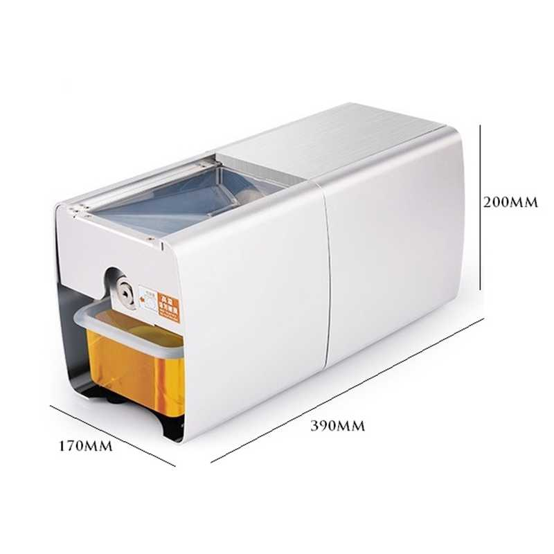 HIMOSKWA Presser Óleo de Aço Inoxidável Fria E Quente Em Casa Automático Máquina Da Imprensa de Óleo de Semente de Amendoim Soybea Extrator De Óleo 220 V