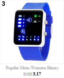 Cool Men's Oversized Design Light Digital Sports Plan Shaped Dial Wrist Watches 7