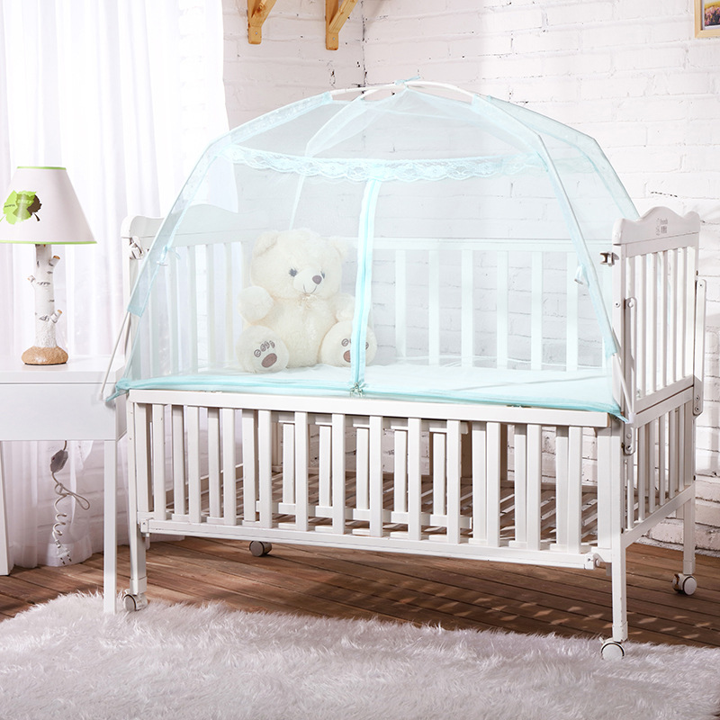 Hot Selling Baby Bed Mosquito Net Mesh Dome Curtain Net for Toddler Crib Cot Canopy 2019 Dropshipping Sleeping Cribs New Arrival