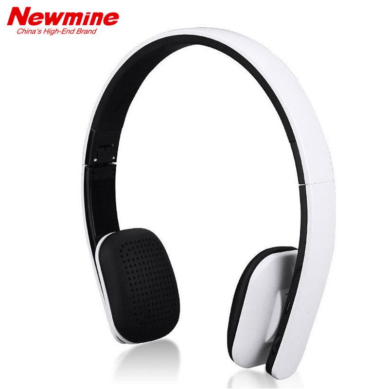 NEWMINE TB106 Original Bluetooth Headphones with Microphone Wireless Headset Stereo Music Earphone for PC Phone iPhone Samsung bluedio t4 original wireless headphones portable bluetooth headset with microphone for iphone htc samsung xiaomi music earphone