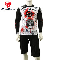 FURY RACE Cycling Set Downhill Jersey And Shorts MTB Mountain Bike Bicycle DH Sets Motocross Motorcycle Jerseys and Shorts Men