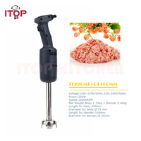 ITOP Multifunctional Handheld Immersion Blender Commercial Food Mixer Juicer Meat Grinder Food Processors IT220MF+BT160