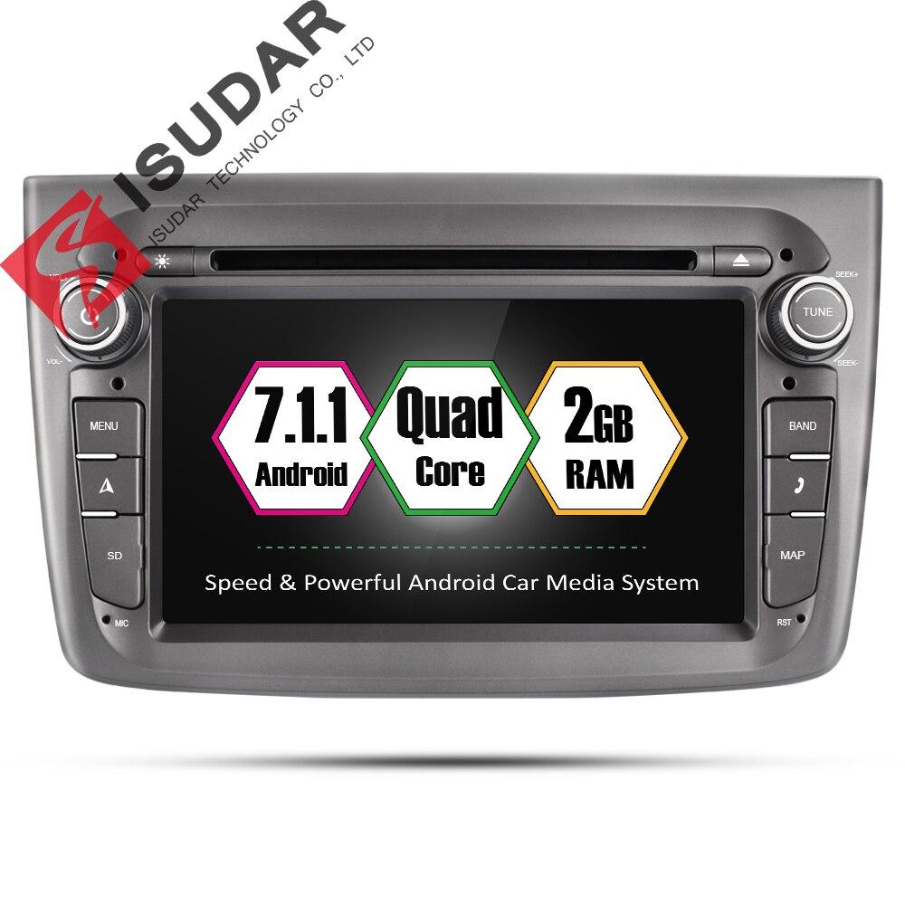 Isudar Voiture Multimédia lecteur 1 din Auto DVD android 7.1.1 7 Pouces Pour Alfa Romeo mito 2008-Quad Core 2G RAM Radio FM GPS USB DVR