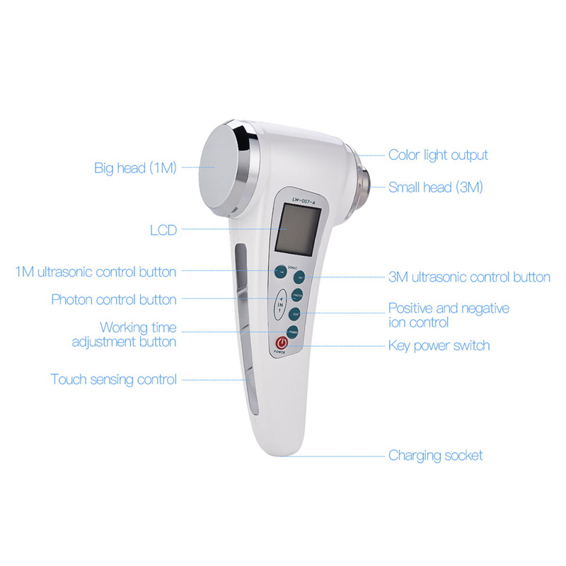 Ultrasonic Skin Care Facial Lifting Whitening High Frequency Ultrasound Face Cleansing Anti Aging Wrinkle Removal Beauty Machine