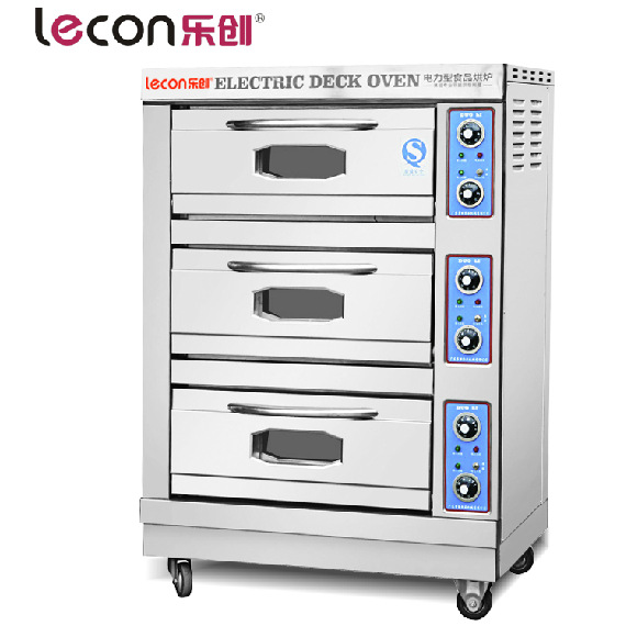 A large bread oven three layer three plate commercial oven electric oven cake bread pizza oven Egg Tart Oven Lecon FCD-3A