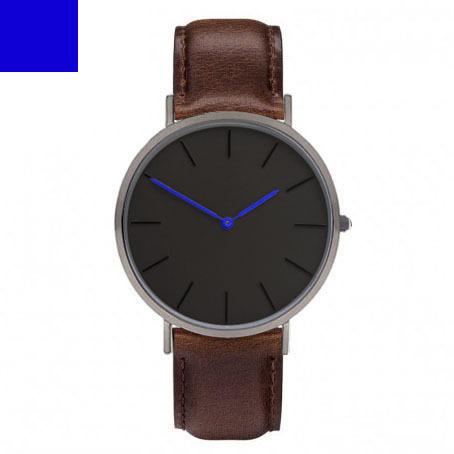 Diseño Unisex Reloj de Las Mujeres Correa de Cuero Genuino. agujas azules Watch Arms. hodinky Japón Máquina