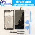 UMI Súper LCD Display + Touch Screen Digitizer + Frame Medio Asamblea 100% Original del LCD + Digitalizador Táctil para UMI Super