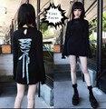 2016 готический урожай лолита harajuku панк-рок Кина же dress Morph8ne за шнуровкой кружева dress черный любовь вышивка black dress