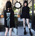 2016 gothic vintage lolita harajuku punk rok Kina same dress Morph8ne behind lacing lace dress black love embroidery black dress