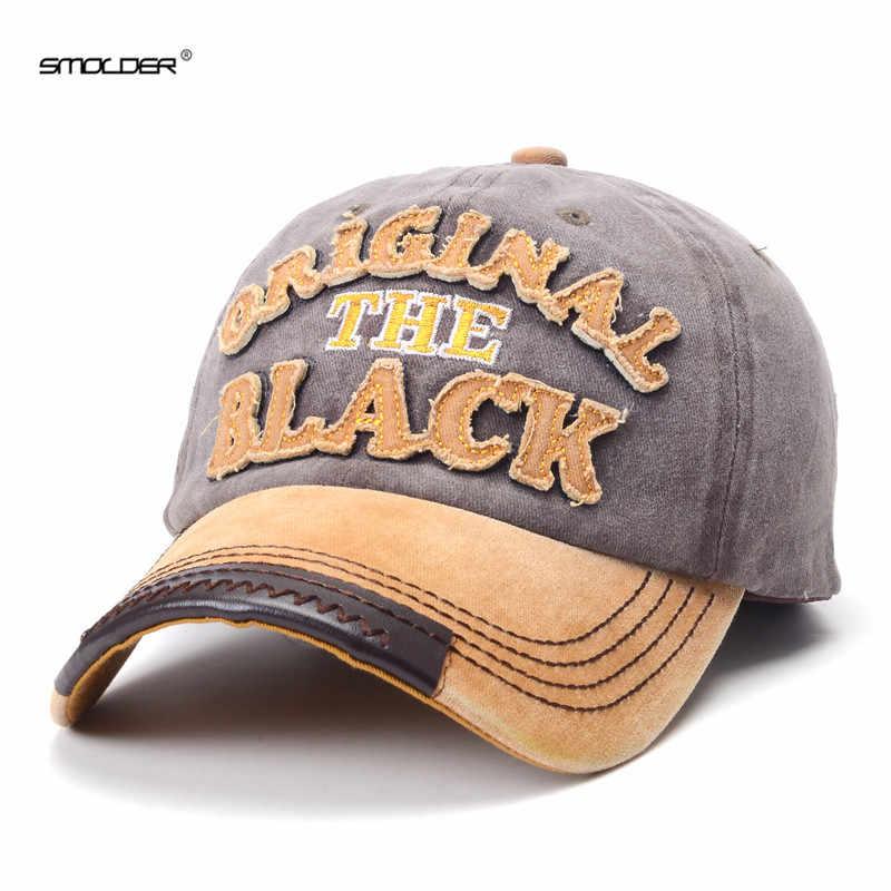 [Smold] ماركة تصميم غسلها قبعات البيسبول عادية القطن قبعة بتصميم هيب هوب التطريز للجنسين قبعات ترد لمكانها للرجال النساء