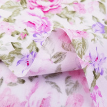Pink Floral 100% Cotton Twill Fabric Patchwork Cloth ,DIY Sewing Quilting Fat Quarters Material For Baby&Child