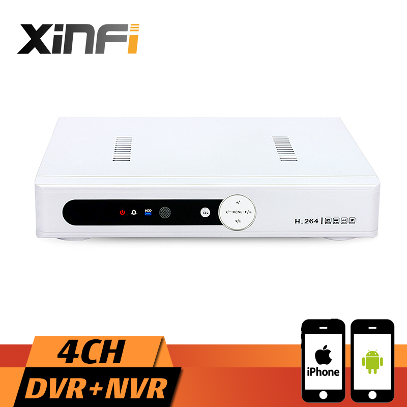 Xinfi CCTV 4CH HVR 1080P Recorder HDMI Output AHD DVR 4 channel HVR DVR NVR Support Analog camera IP Camera ninivision ahd 4 channel 1080p hdmi 1080p 4ch hybrid ahd dvr hvr nvr onvif for security ip camera p2p function cctv dvr recorder