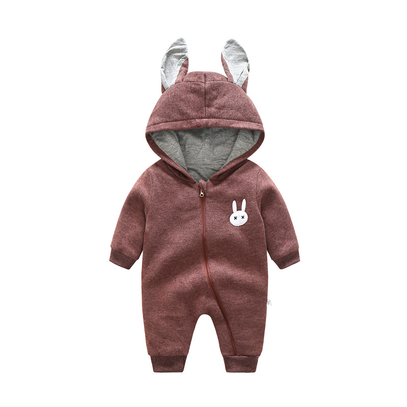 Cute rabbit Pattern Hooded Baby Rompers Newborn Clothing Cotton Long Sleeve Jumpsuits Autumn Winter baby Boys Girls Outerwear baby clothes 100% cotton boys girls newborn infant kids rompers winter autumn summer cute long sleeve baby clothing