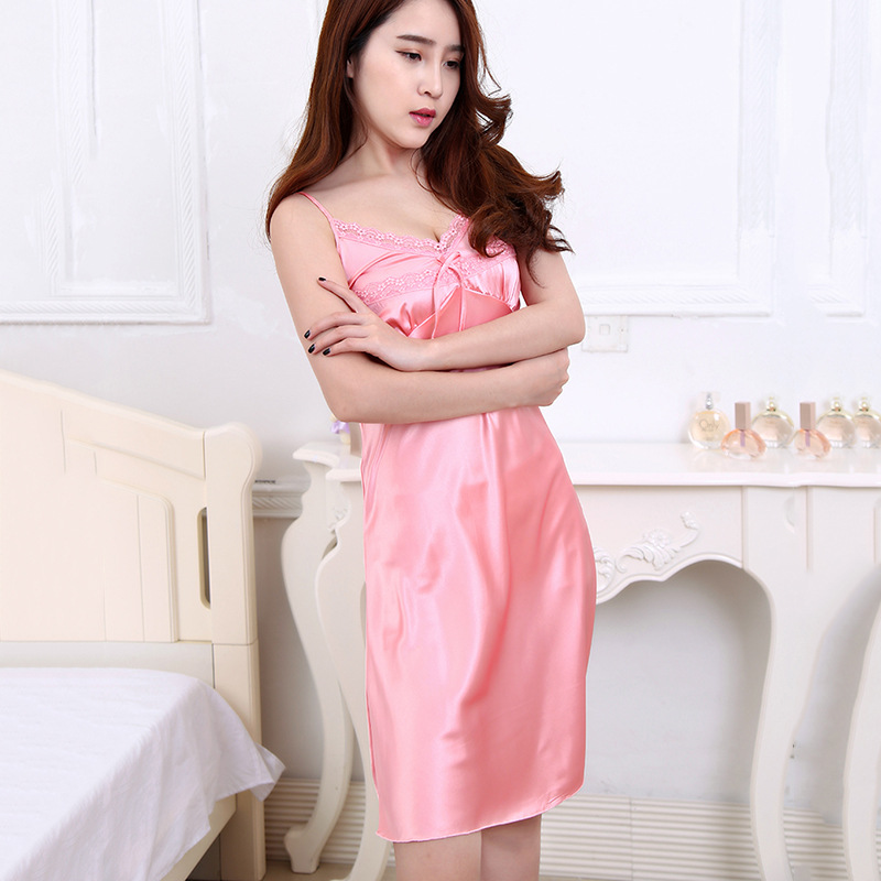 Pijamas sexy para mujeres 2017 verano seda Pijamas Mujer homewear ...