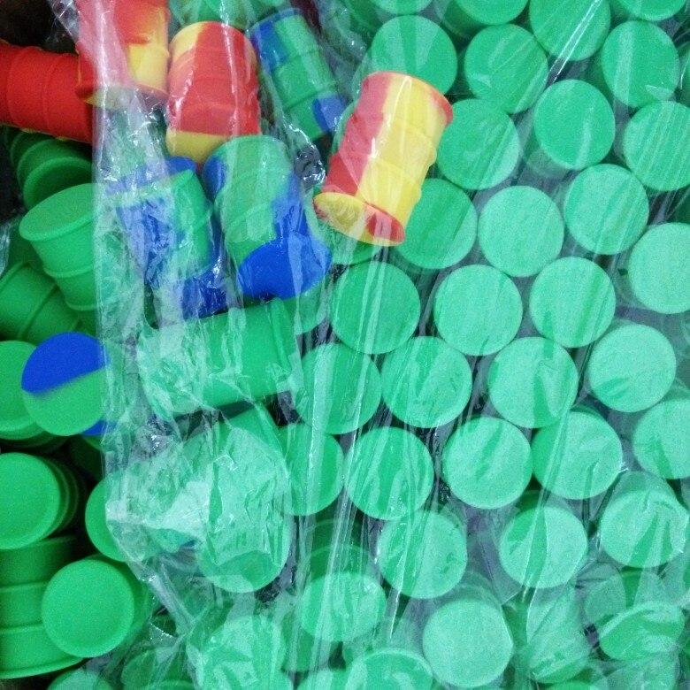 100 x Non Stick Dab Bho Slick Oil Wax Jar Silicone Oil Drum Barrel Container