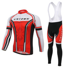 Jersey Long Sleeve Team Bike Bicycle Jersey Bib Pants Suit Men Cycling  Clothing Cycling Sets Spring Autumn Wear L088