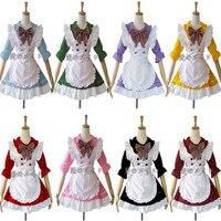 Cosplay Femme de Ménage Équipement de Bonne Serveuse Fantaisie Robe À Volants Costume Cosplay Japon Anime Lolita Princesse Costume CS33961