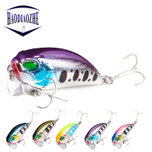Купить с кэшбэком Fishing Lure Crankbait 5cm Artificial Crank Fishing Tackle Bass Pike Hard Bait Lifelike Swimbait Floating Wobblers Japan Pesca