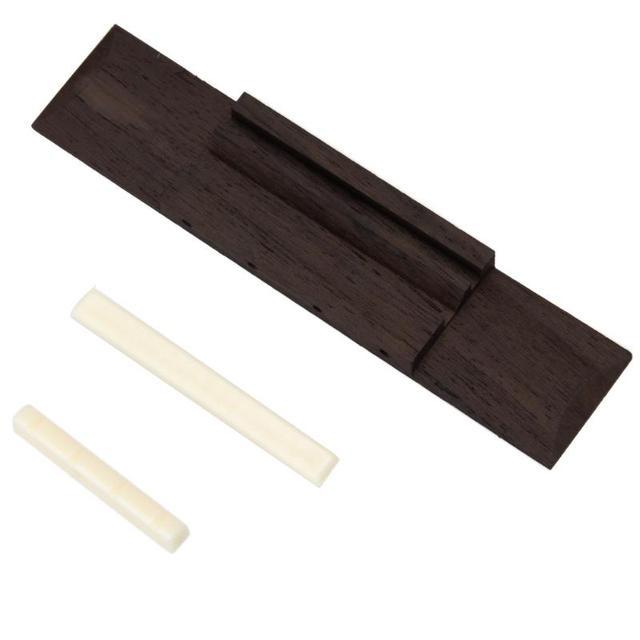 שנהב ABS אגוז ואוכף מחוררת + 110mm Rosewood גשר Ukulele חלקי להחלפה באיכות גבוהה