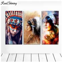 Large Diy Diamond Embroidery,Girl Chief 5D,Diamond Painting,Cross Stitch,Mosaic Needleworks,Crafts,FS4720