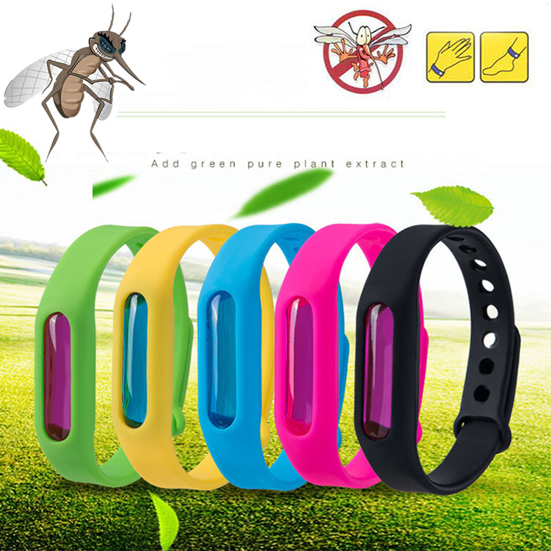 Dropship Mosquito Repellent Silicone Wristband Summer Repellent Bracelet Anti Mosquito Band Children Insect Killer(China)