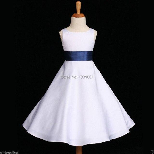 6c607fc63 € 70.98 |Blanco Y Azul Vestidos De Fiesta Para Niños 2016 Nuevo Sencillo  Vintage Vestidos de Niña Rojo Moños Para Niñas Una Mani intercambio en ...