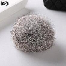 Grey Large Handbag Charm Real Rabbit Fur Ball For Keychain DIY Popular Fuzzy Ball Bag Charms Fashion Accessory