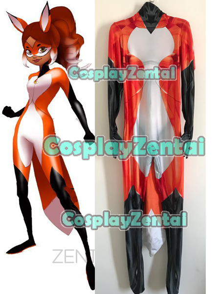 High Quality Rena Rouge Tales of Ladybug 3D Print Cosplay Costume Spandex Zenati Bodysuit Halloween Costume