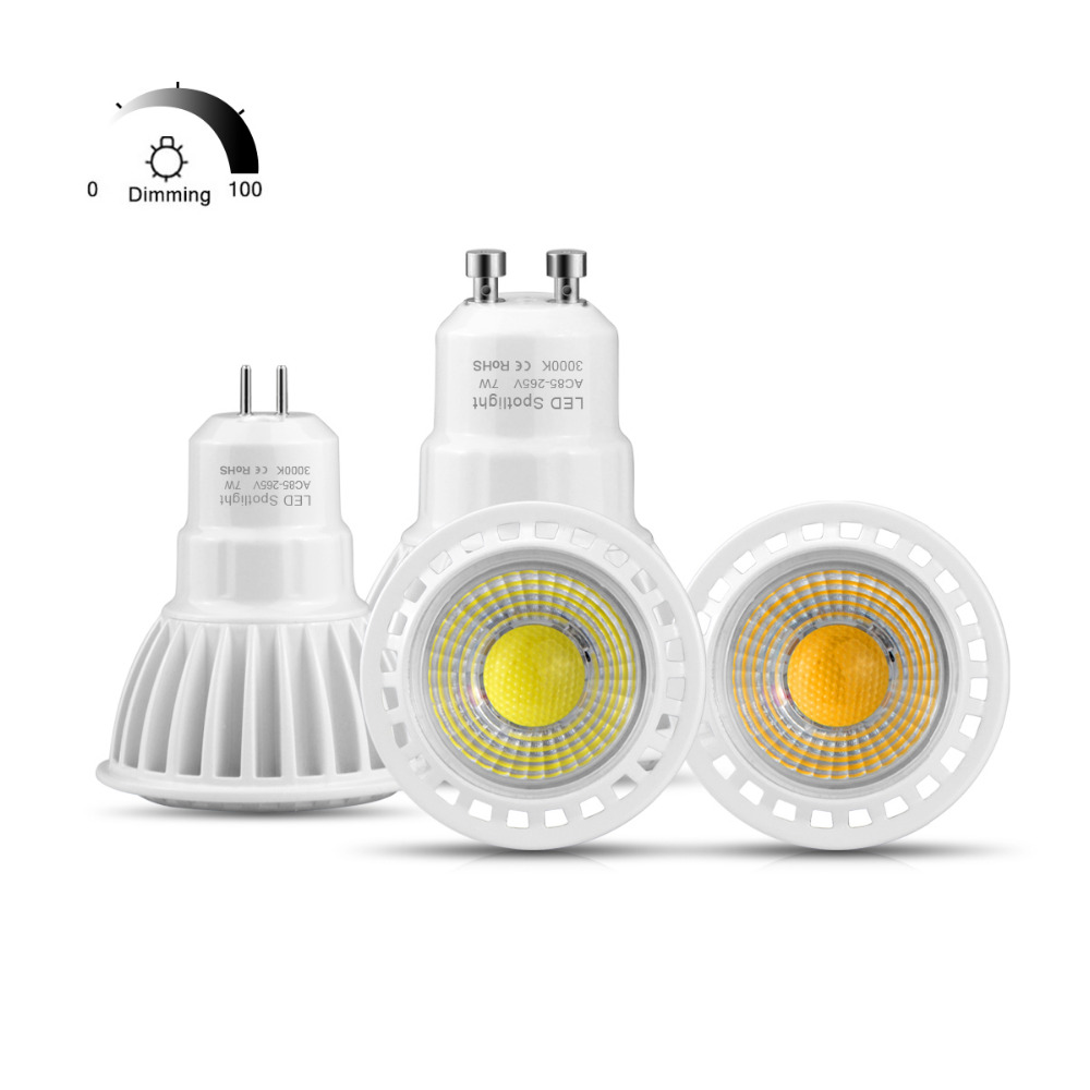 Temperate Gu5.3 Gu10 Led Bulb Dimmable Led Spotlight Ac 220v 110v 3w 5w 7w Honest Watt Home Lamp Spot Light Indoor Ac85v-265v In Pain Light Bulbs Lights & Lighting