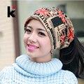 Мода 2017 Осень и зима шляпы глушитель шарф двойного назначения шлем Британский стиль крышка тюрбан beanie шляпы для женщин Бесплатные торговый
