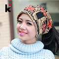 Fashion 2017 Autumn and winter muffler hats scarf dual-use hat The British style cap turban beanie hats for women Free shopping