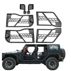 Body Armor Complete Set of 4 Tubular Door with side mirror fit for Jeep Wrangler 2007 08 09 10 11 2012 2013 2014 2015 2016 2017