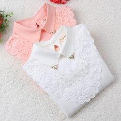 Блузка для девочек; коллекция 2019 года; осенняя одежда для маленьких девочек; детская одежда; школьная блузка для девочек; хлопковая Детская ...